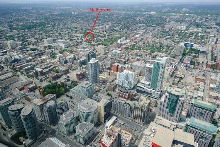 Вид на Торонто с CN Tower.