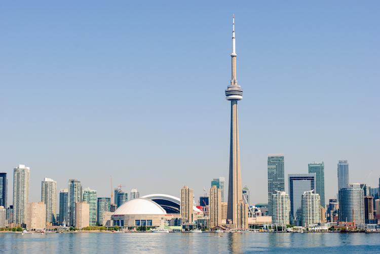 Торонто. Вид на город с Toronto Islands.