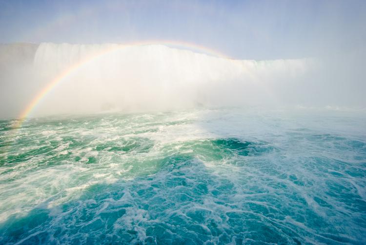 Niagara Falls. Подплываем к центру водопада.
